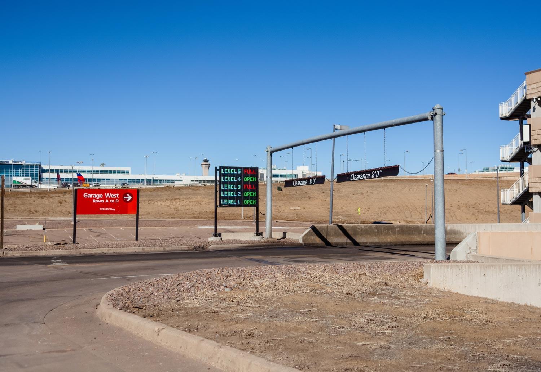 DEN Parking Garage Signs | Denver, Colorado